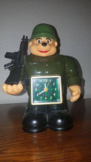 Clock in soldier shape for Sale in West Covina, CA