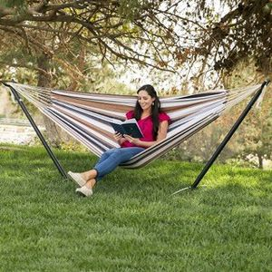 Brand new in box Portable Hammock + Base Stand + Carrying Bag Outdoor Camping 450lbs Capacity Easy Assembly for Sale in Pico Rivera, CA