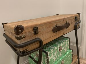 Console table and storage boxes for Sale in Houston, TX
