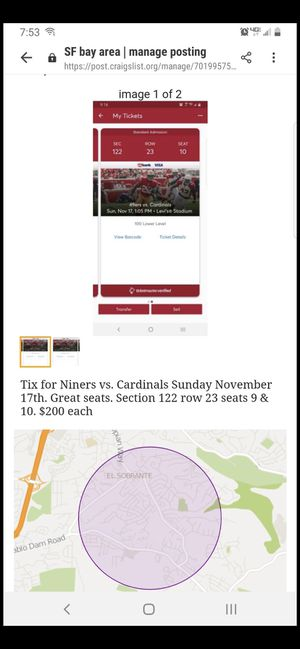 49ers Tickets for Sunday for Sale in Richmond, CA