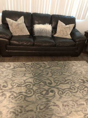 Sofas with pillows and rug for Sale in Irvine, CA