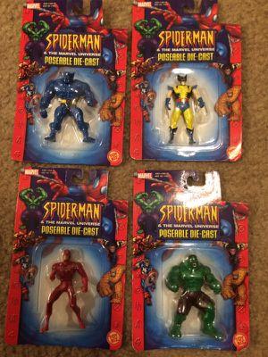 Marvel action figures die cast metal for Sale in Durham, NC