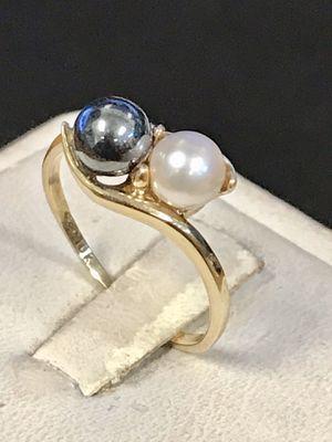 Gold pearl ring for Sale in Trenton, MI