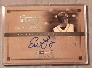 Evan Longoria Autographed Baseball Card for Sale in Hernando Beach, FL