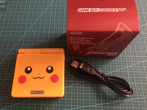 Nintendo Game Boy Advance GBA SP Pikachu System AGS 001 for Sale in Belmont, CA