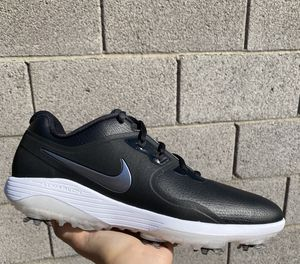 Nike Vapor Lunarlon Black Athletic Mens Golf Sneakers Cleats Sz 8 or 9 for Sale in Las Vegas, NV