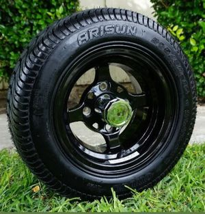 """Golf cart rims an tires 10"""" rims on 205/50-10 tires for Sale in Riverside, CA"""