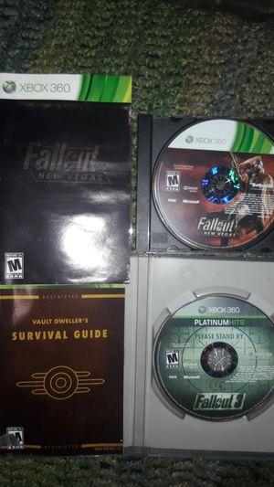 Fallout 3 & Fallout New Vegas - 2 Xbox 360 games plus free large Fallout t-shirt for Sale in Philadelphia, PA