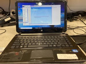 Hp sleekbook 14 i3 laptop 4gb ram 120gb ssd to make it 10 Times faster hdd windows 10 office 07 storefront seller for Sale in Lawndale, CA