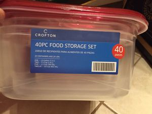 40 piece food storage containers for Sale in Cooper City, FL