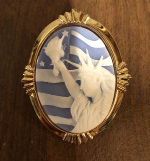 Statue of Liberty Cameo Brooch for Sale in Parkville, MD