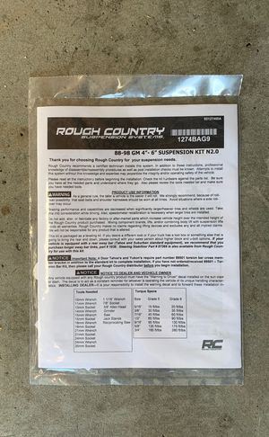 88 to 98 GM/ Chevy 5inch Rough country lift Kit N2.0. Still in box for Sale in Beaumont, CA