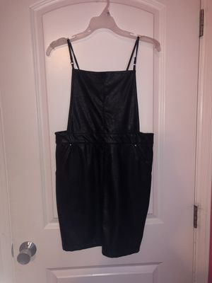 black leather overall dress size 10 from H&M for Sale in Kent, WA