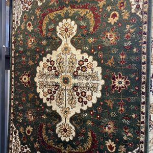 5x7 Green Cream Burgundy Persian Design Rug Durable Non Shedding Non Slide Carpet for Sale in Los Angeles, CA
