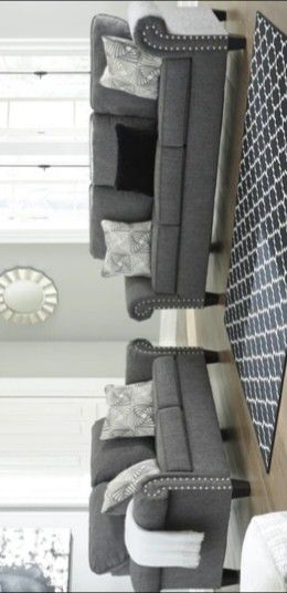New Agleno Charcoal Living Room Set (couch and sofa) for Sale in Conroe, TX