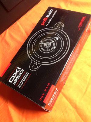 "New Polk Audio DXi350 Car Speakers(pair). 3.5"" 2-way. $169at bestbuy for Sale in Richardson, TX"