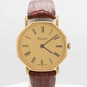 Rare Vintage Piaget 18K Yellow Gold Electroplate Stem Wind Wristwatch for Sale in Arlington, VA