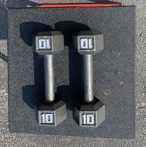 Steel Set of 10LBS Dumbbells for Sale in Cleveland, OH