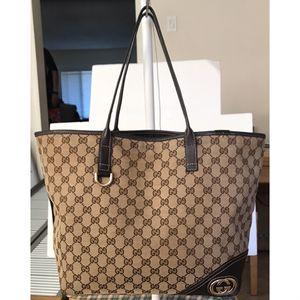 Authentic Gucci Gg Monogram Canvas Abbey Shoulder Tote Bag for Sale in Walnut, CA