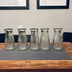 Vintage Glass Milk Or Juice Bottles 12oz for Sale in Rockdale, IL
