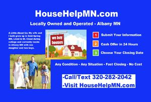 Sell Your House Today! We Buy Houses Cash! for Sale in Waite Park, MN