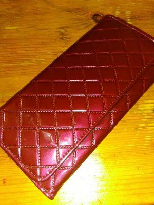 Deep Burgundy faux leather wallet for Sale in Detroit, MI