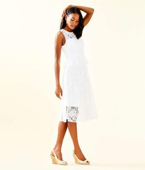 Lilly Pulitzer Moles Dress - Resort White Paradise Found Lace for Sale in Painesville, OH