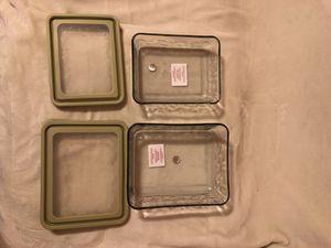 Recipientes de cristal Princess House/ Glass storage containers Princess House for Sale in Chicago, IL