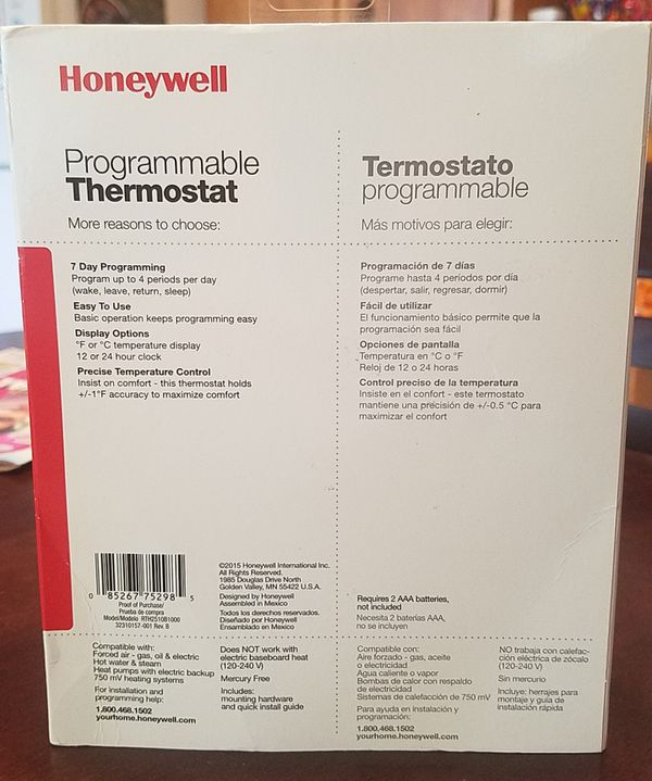 Honeywell 7day programmable Termostat