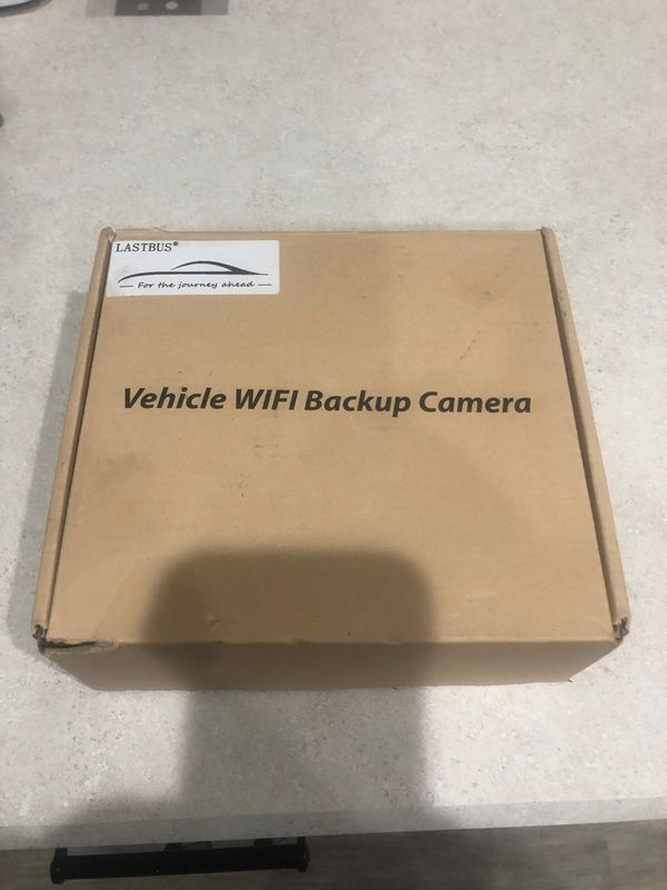 New in box RV trailer back up camera uses app on iPhone or Android