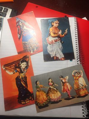 Four Soviet Vintage Postcards. Dancers in Indian Classical Dance for Sale in Dallas, TX