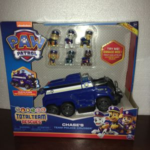 PAW Patrol, Chase's Total Team Rescue Police Cruiser Vehicle with 6 Pups, for Kids Aged 3 and Up for Sale in Queen Creek, AZ