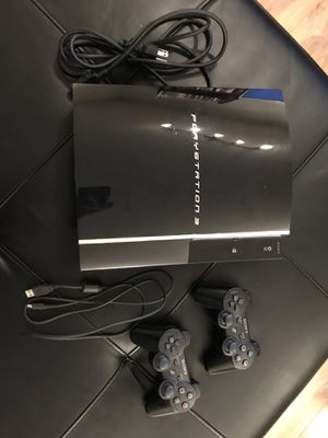 PS3, 2 Controllers, 19 Games, Power Cable, Charging Cable for Sale in Rockville, MD