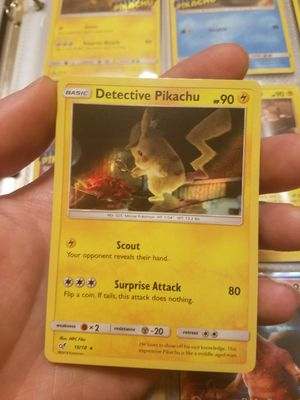 Holo pokemon detective pikachu card for Sale in Allentown, PA