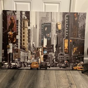 Canvas Wall Painting Time Square for Sale in Tempe, AZ