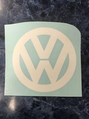 "VW sticker 3"" size white vinyl for Sale in Modesto, CA"