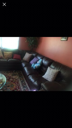 Sectional leather couch for Sale in Dale City, VA