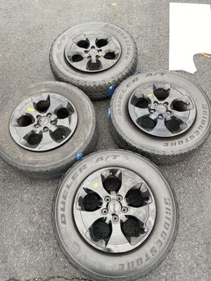 Jeep Wrangler Black Wheels and Tires for Sale in Sewell, NJ