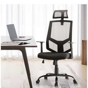 Office Chair, High Back Ergonomic Mesh Desk Office Chair with Padding Armrest and Adjustable Headrest Black for Sale in Diamond Bar, CA