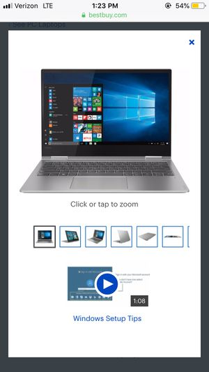 "Lenovo - Yoga 730 2-in-1 13.3"" Touch-Screen Laptop - Intel Core i5 - 8GB Memory - 256GB Solid State Drive - Platinum for Sale in Alexandria, VA"
