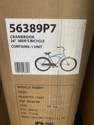 "Huffy 26"" Cranbrook Men's Comfort Cruiser Bike, Matte Blue Brand new in box. for Sale in Bethesda, MD"