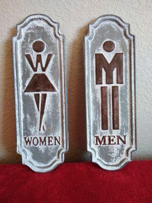 Brand New Home Decor Men & Women Metal Signs (4x12) 🙏🏼 Please Read Description 👀 for Sale in North Las Vegas, NV