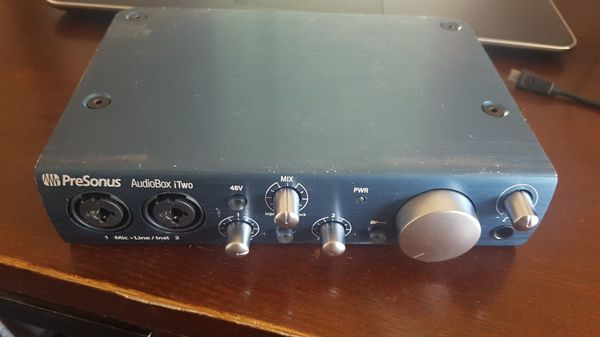 Presonus Audiobox i2 iTwo USB music recording studio interface