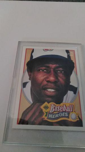 Upper Deck Baseball Heroes Card #26 * Hank Aaron for Sale in Shelton, CT