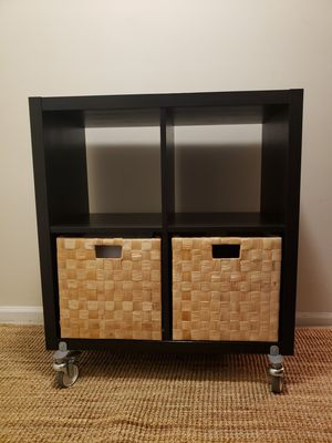 Black shelves with wheels for Sale in Washington, DC