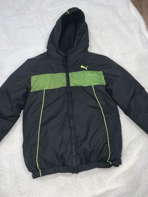 Puma Black/green Boys jacket size L - see ad for location for Sale in Aurora, CO