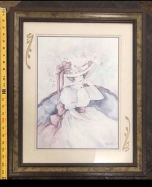 Vintage Art of Woman Ready to Hang 19 x 23 inches just $5 for Sale in Port St. Lucie, FL