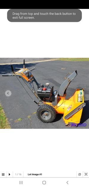 Yard King Snow Blower for Sale in Anchorage, AK