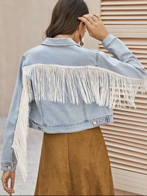 SHEIN fringe jacket size medium. Price is not negotiable. for Sale in Bakersfield, CA