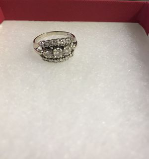 14 WHITE GOLD ENGAGEMENT RING - 4g - size 8 - .62tcw for Sale in Tampa, FL